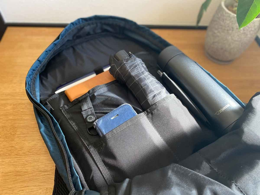 CONCEAL BACKPACK(コンシールバックパック)収納例